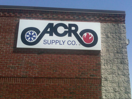 A view showing the outside of the ACR sales outlet - the project to be constructed by Anthony and Company Construction