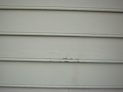 Another kind of defect in siding