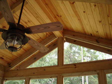 Interior Views Of This Post And Beam Screened Porch In The