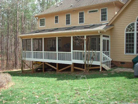 The Bartrand Screened Porch built by Raleigh Screened Porch Contractor Anthony and Company Construction