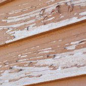 Weather-beaten siding
