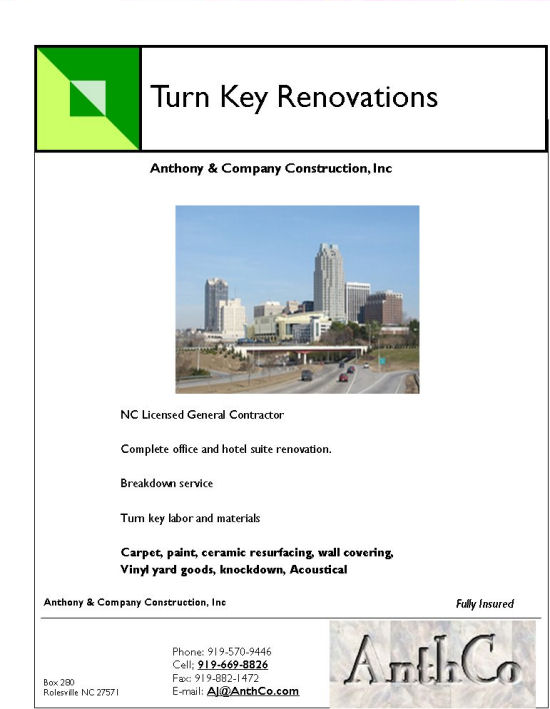 Download the Turn Key Solutions Flyer from Anthony and Company Construction